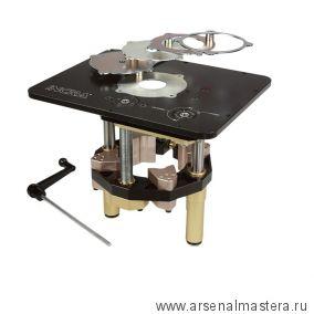Лифт INCRA Jessem Mast-R-Lift II фрезерный  с комплектом переходных колец (3/8, 1, 1-5/8, 2-5/8, 3-5/8) M-Mast R Lift-II