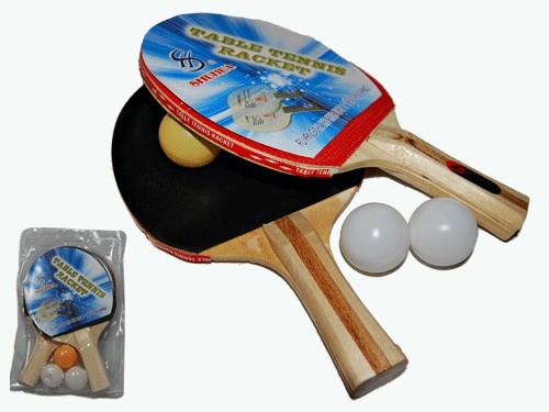 Набор для настольного тенниса. 2 ракетки, 3 шарика, артикул 11010