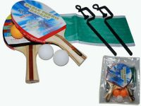 Набор для настольного тенниса. 2 ракетки, 3 шарика, сетка со стойками, артикул 11003