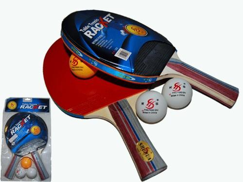 Набор для настольного тенниса. 2 ракетки, 3 шарика, артикул 11094