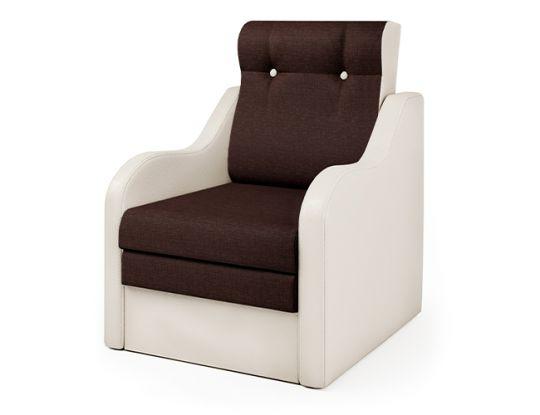 Кресло-кровать Классика-В экокожа беж и рогожка