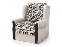 Кресло-кровать Классика-М экокожа беж и ромб