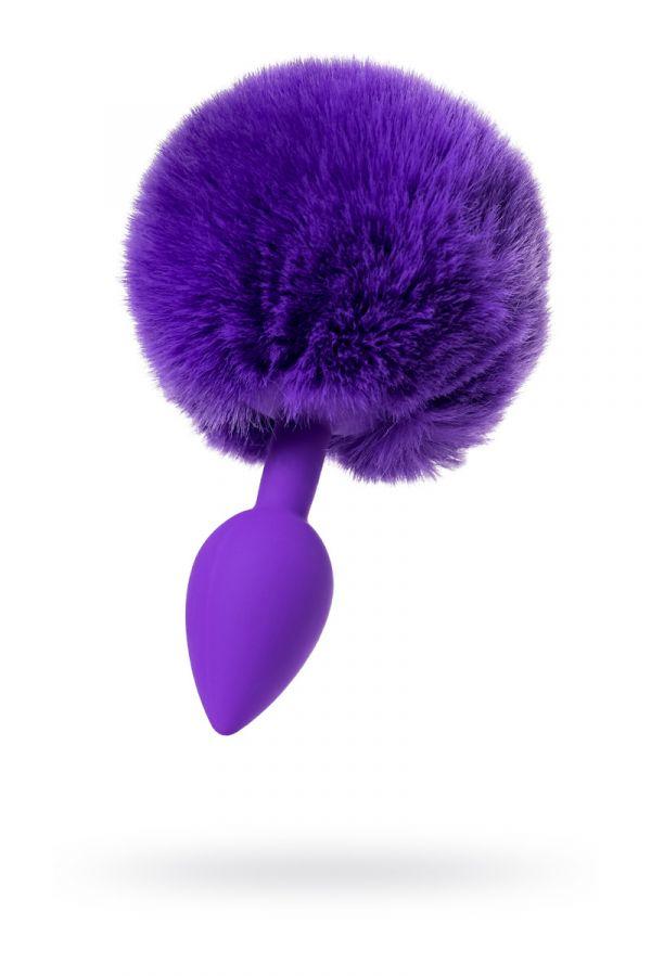 Анальная Втулка с хвостом TODO BY TOYFA SWEET BUNNY, силикон, фиолетовый, 13 СМ, Ø 2,8 СМ, 42 Г