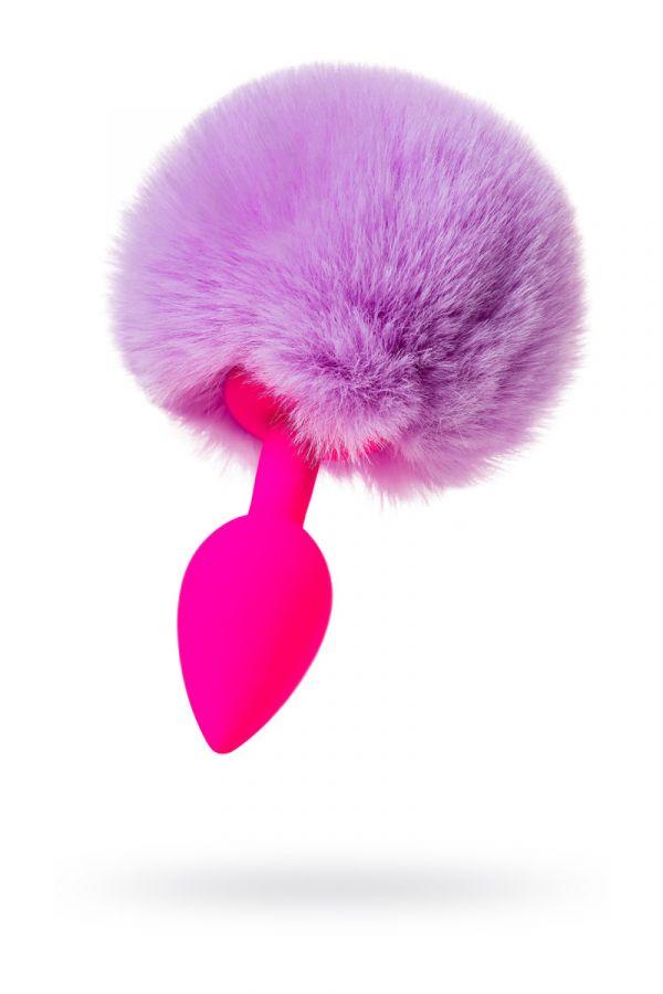 Анальная Втулка с хвостом TODO BY TOYFA SWEET BUNNY, силикон, розовая, 13 СМ, Ø 2,8 СМ
