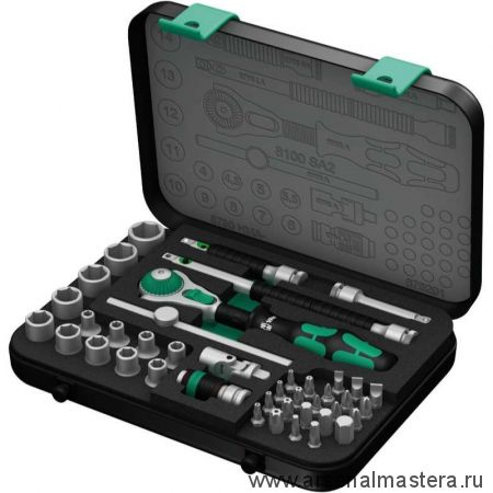 Набор WERA Zyklop Speed 42 предмета с трещоткой привод 1/4д 8100 SA 2 WE-003533