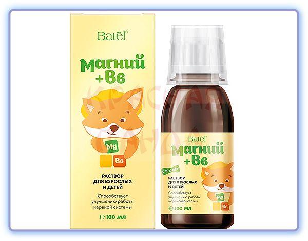 Batel Магний + В6 раствор для взрослых и детей