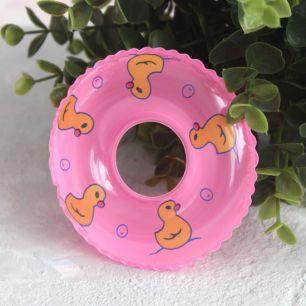 Кукольный аксессуар - Розовый надувной круг, 9 см.