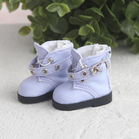 Обувь для кукол - Высокие сиреневые ботинки с люверсами 5 см.