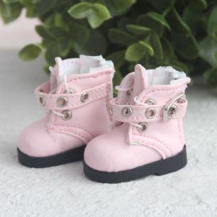 Обувь для кукол - Высокие розовые ботинки с люверсами 5 см.