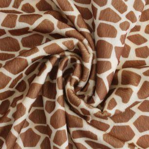 Мелковорсовый мех жираф (плюш) крупные пятна