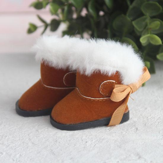 Обувь для кукол сапожки угги с мехом 5,5 см. - коричневые