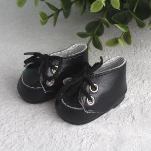 Обувь для кукол - мокасины 5 см (черные)