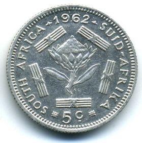 ЮАР 5 центов 1962