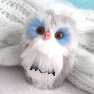 Игрушка для куклы -  Серая сова, 14 см.