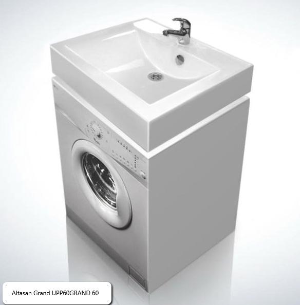 Раковина Altasan Grand UPP60GRAND 60 над стиральной машиной