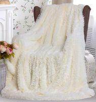 """Плед-одеяло с  длинным ворсом """"молочный""""  220х240 см №PL004"""