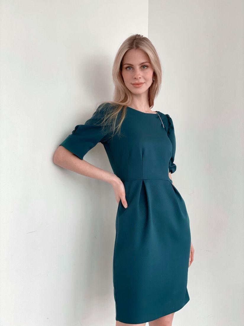3968 Платье с открытой спинкой в цвете морской волны