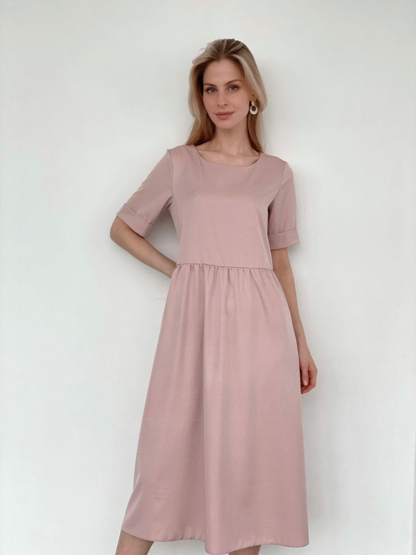3970 Платье-миди пудровое