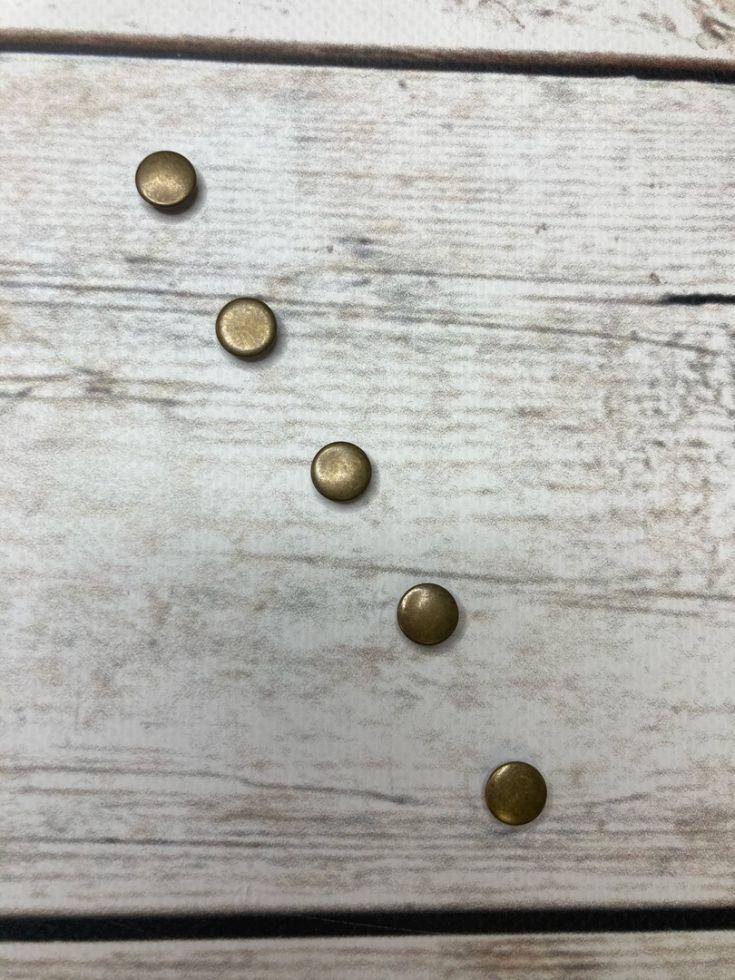 кнопка закрытая 9,5мм антик