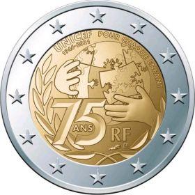 75 лет «ЮНИСЕФ»( Детский фонд OOH) 2 евро Франция 2021