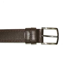 Ремень мужской кожаный коричневый 35