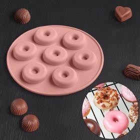 Форма  «Пончики», 15,5×1,3 см, 7 ячеек