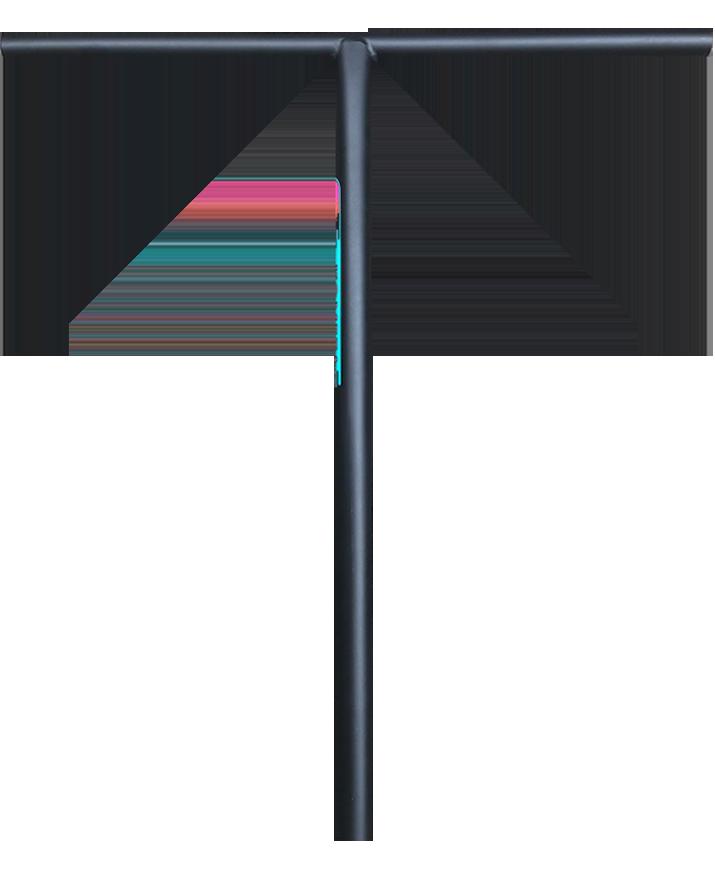 Руль Комета V2 Классик 31,8 мм (черный матовый)