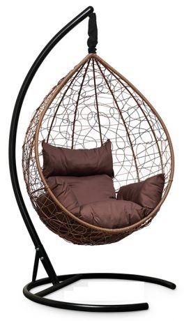 Подвесное кресло-кокон SEVILLA каркас горячий шоколад