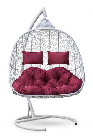 Подвесное кресло-кокон SEVILLA TWIN каркас белый