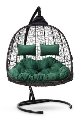 Подвесное кресло-кокон SEVILLA TWIN каркас коричневый