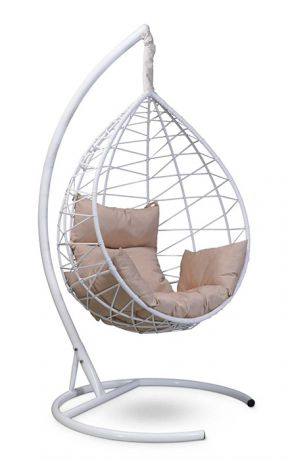 Подвесное кресло-кокон ALICANTE каркас белый