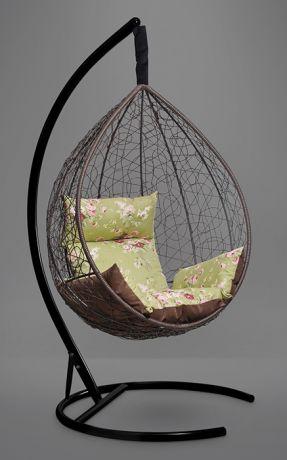 Подвесное кресло-кокон SEVILLA ELEGANT каркас коричневый