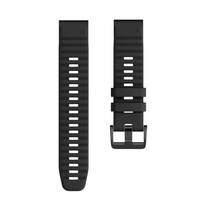 Ремешок сменный QuickStrap 22мм силиконовый черный