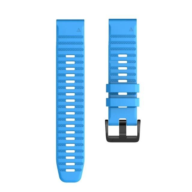 Ремешок сменный QuickStrap 22мм силиконовый голубой