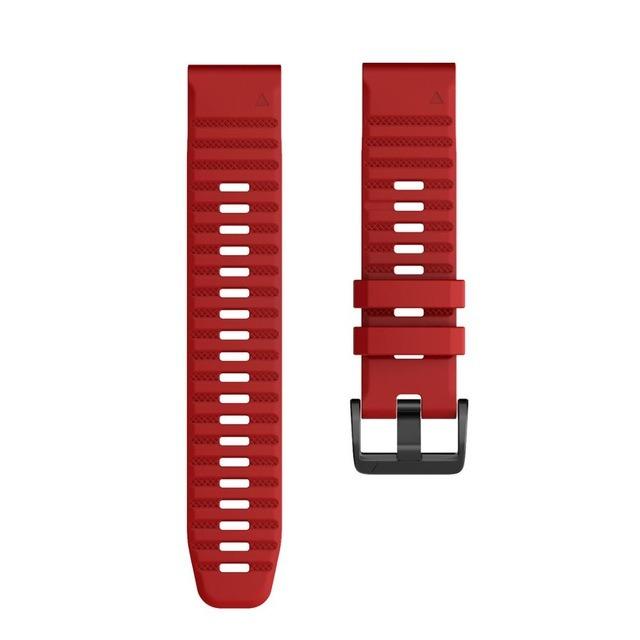 Ремешок сменный QuickStrap 22мм силиконовый красный