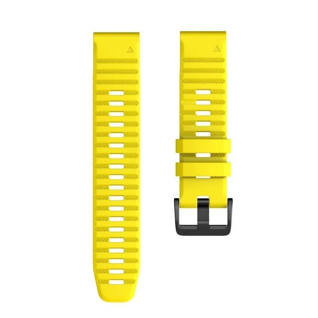 Ремешок сменный QuickStrap 20мм силиконовый желтый