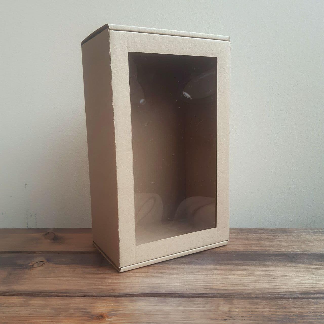 Коробка подарочная гофрокартон 250*150*100 мм прямоугольная с окном