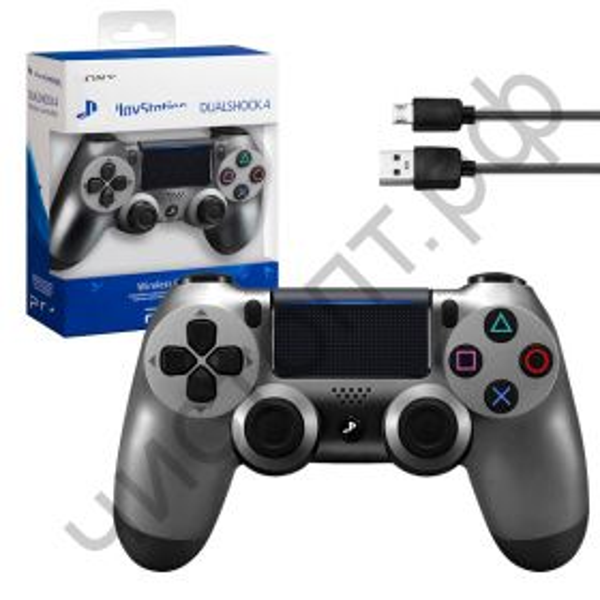Джойстик для PS4 DualShoc серый беспроводной