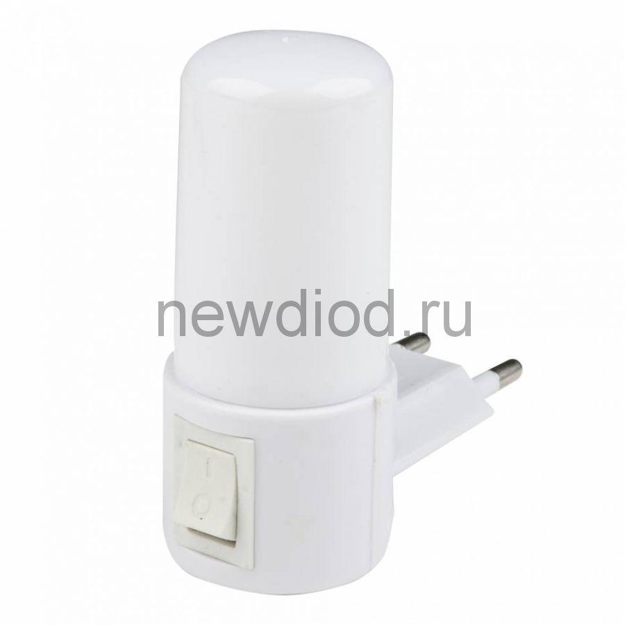 Светильник-ночник Светлячок/White DTL-312 механический выключатель белый ТМ Uniel