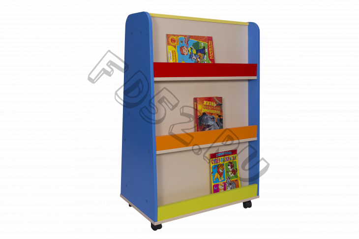 Стеллаж для книг передвижной, 700*420*1080