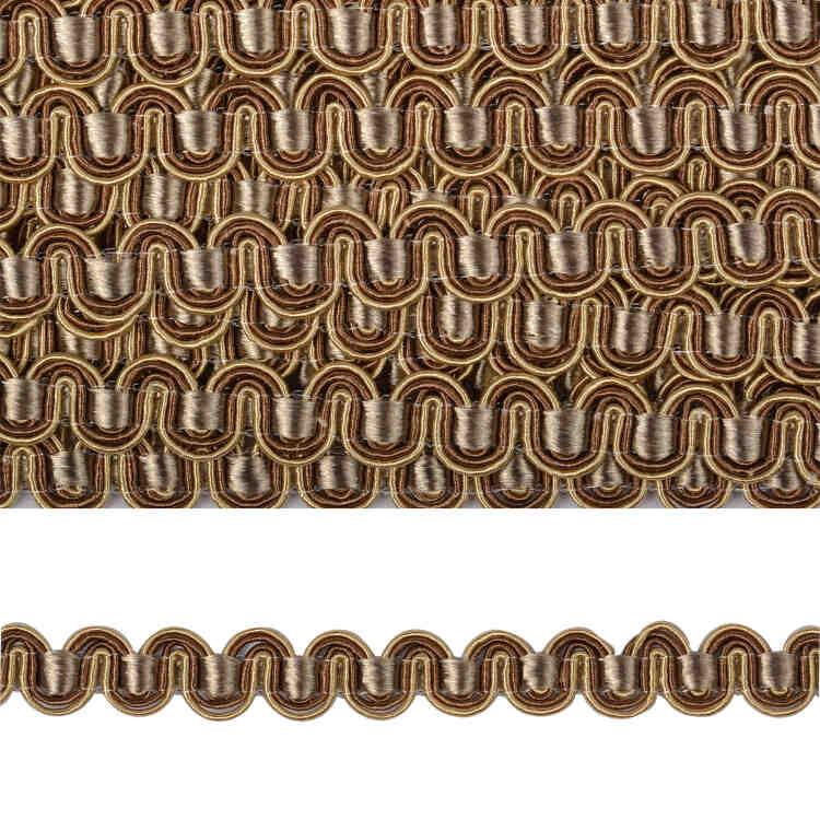 Тесьма вязаная отделочная Змейка 10 мм ( 3795 )