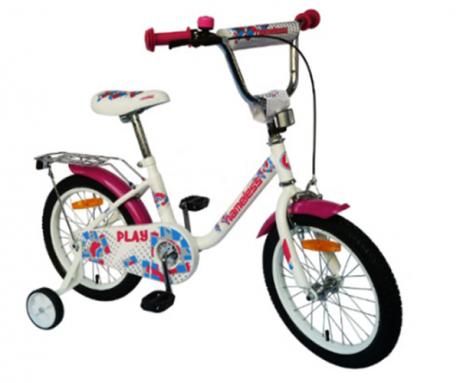 """Велосипед Nameless 12"""" PLAY белыйфиолетовый"""