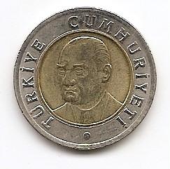 1 лира Турция 2005