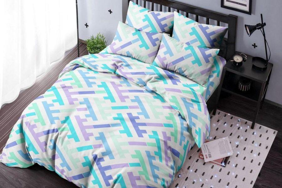 Бязь [голубой] Лабиринт постельное белье