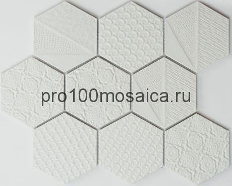 R-329. Мозаика Соты серия RUSTIK,  размер, мм: 256*295,5*5 (NS Mosaic)