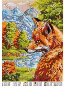 Мика MikaA-2045 Лисья Осень схема для вышивки бисером купить оптом в магазине Золотая Игла