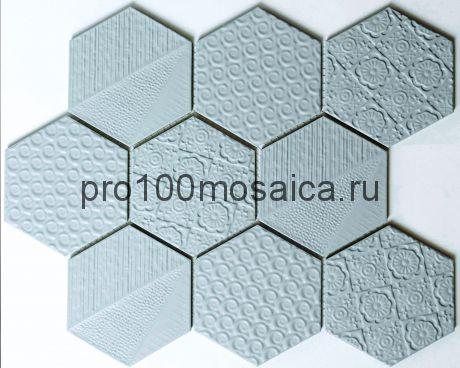 R-332. Мозаика Соты серия RUSTIK,  размер, мм: 256*295,5*5 (NS Mosaic)