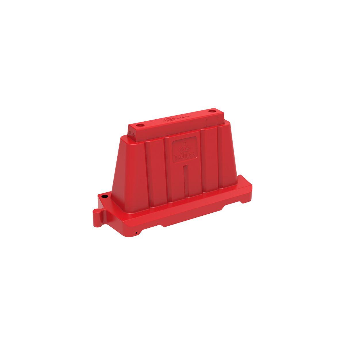 Дорожный блок 1200 вставной красный