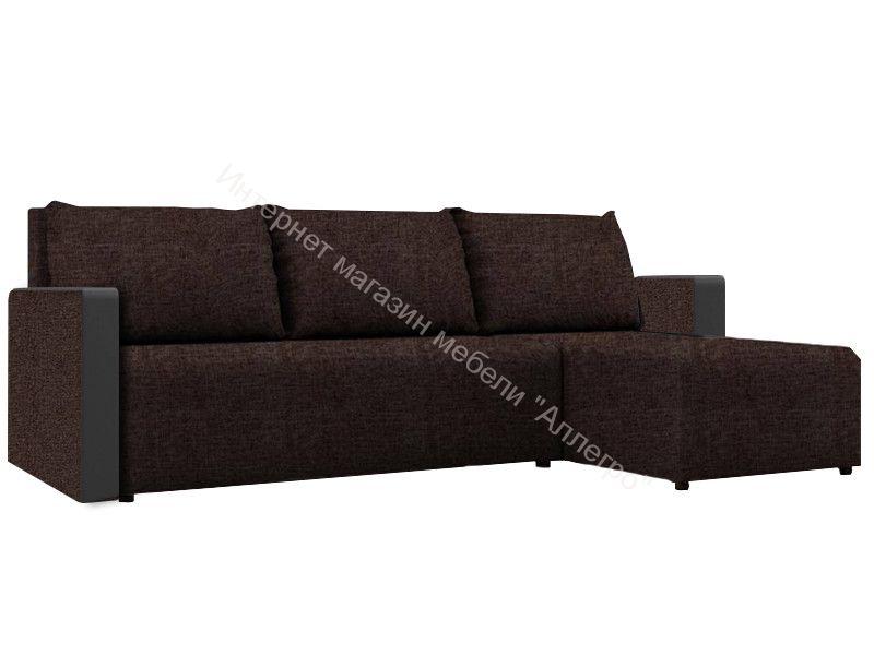 "Угловой диван ""Алиса 3"" Savana Chocolate/Teos Dark Brown Кат.1"