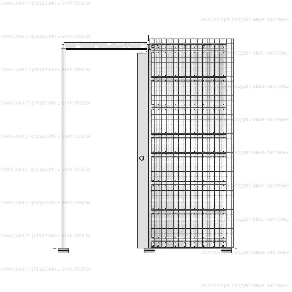 Пенал Eclisse Syntesis Line под штукатурку (полотно 2000/2100 мм)